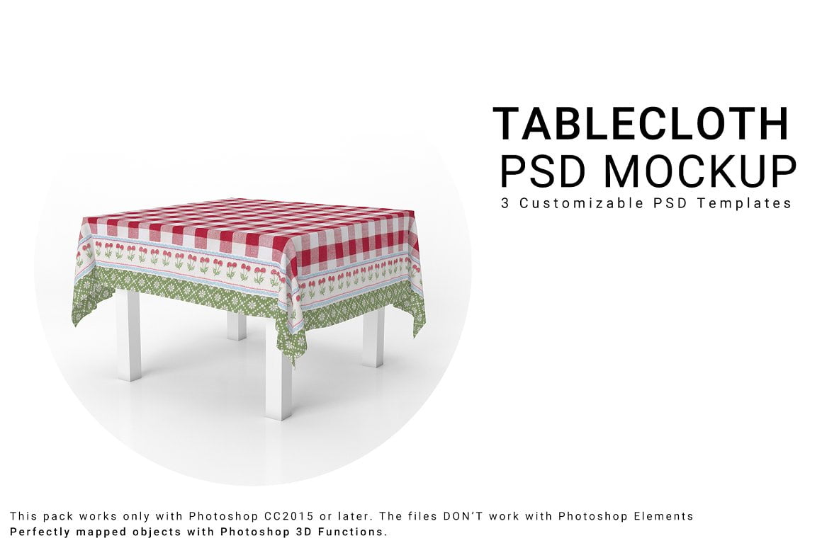 Square Tablecloth Mockup Set