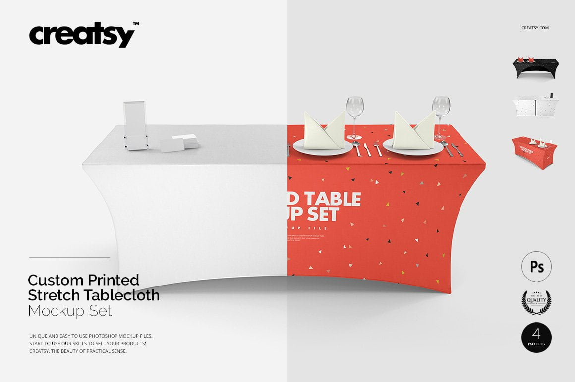 Stretch Tablecloth Mockup Set