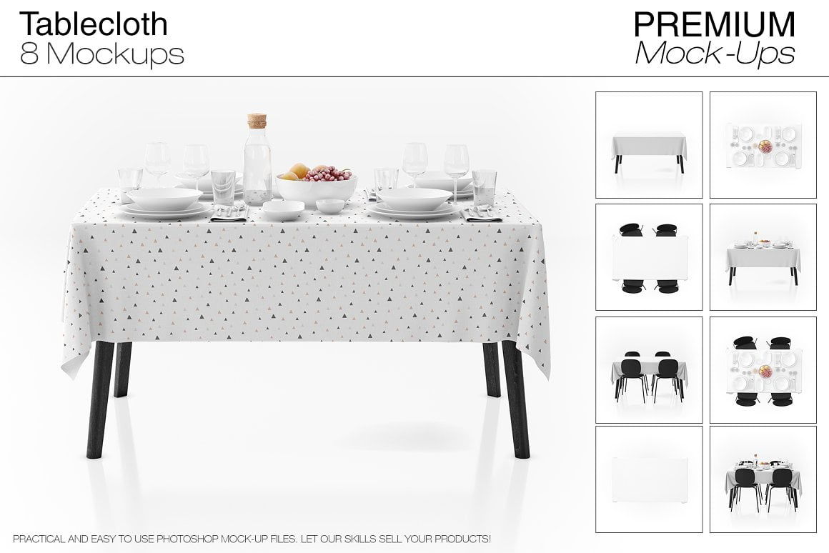 Tablecloth Mockup Set