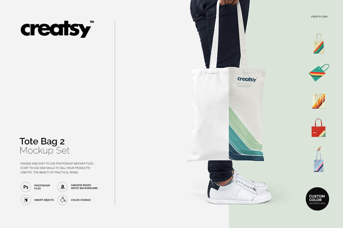Tote Bag 2 Mockup Set