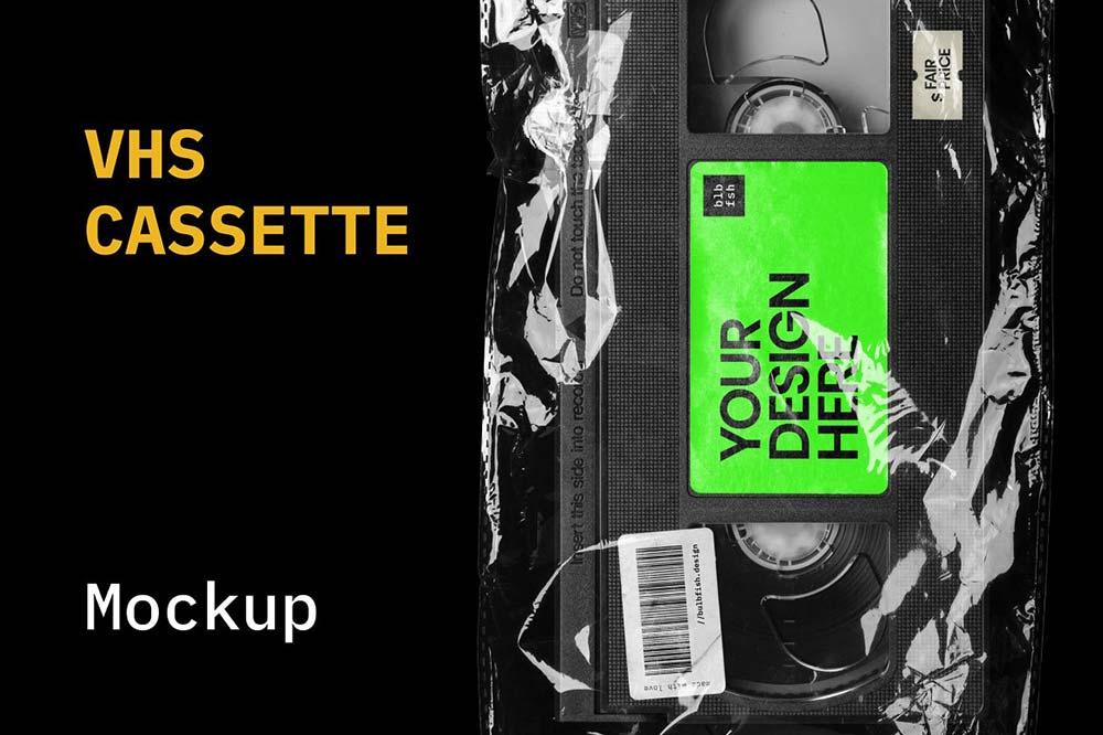 VHS Cassette Mockup
