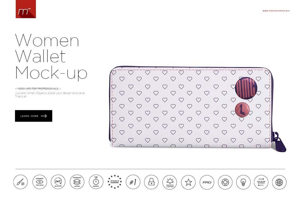 Women Wallet Mock-up