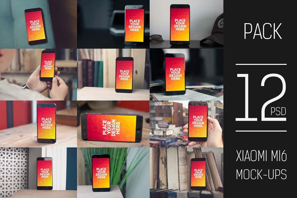 Xiaomi Mi6 Mock-up Pack