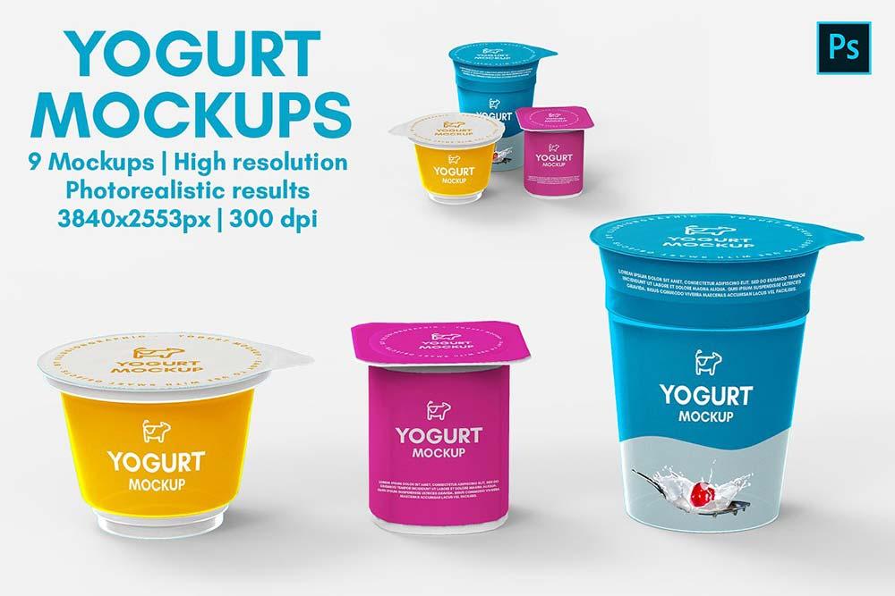 Yogurt Mockups