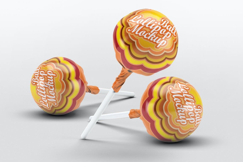 Ball Lollipop Candy Mock-Up
