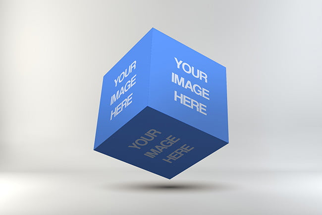 Best Cube Mockup PSD Templates