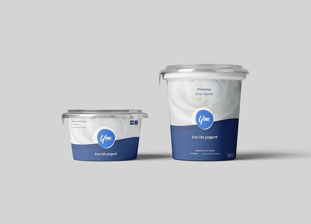 Best Yogurt Mockup PSD Templates