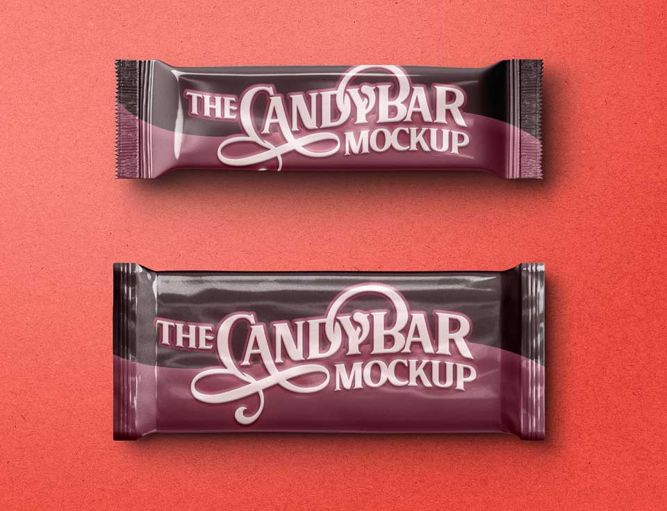 Best Candy Mockup PSD Templates