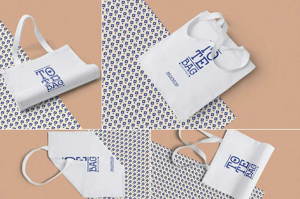 Cotton Tote Bag Mockups