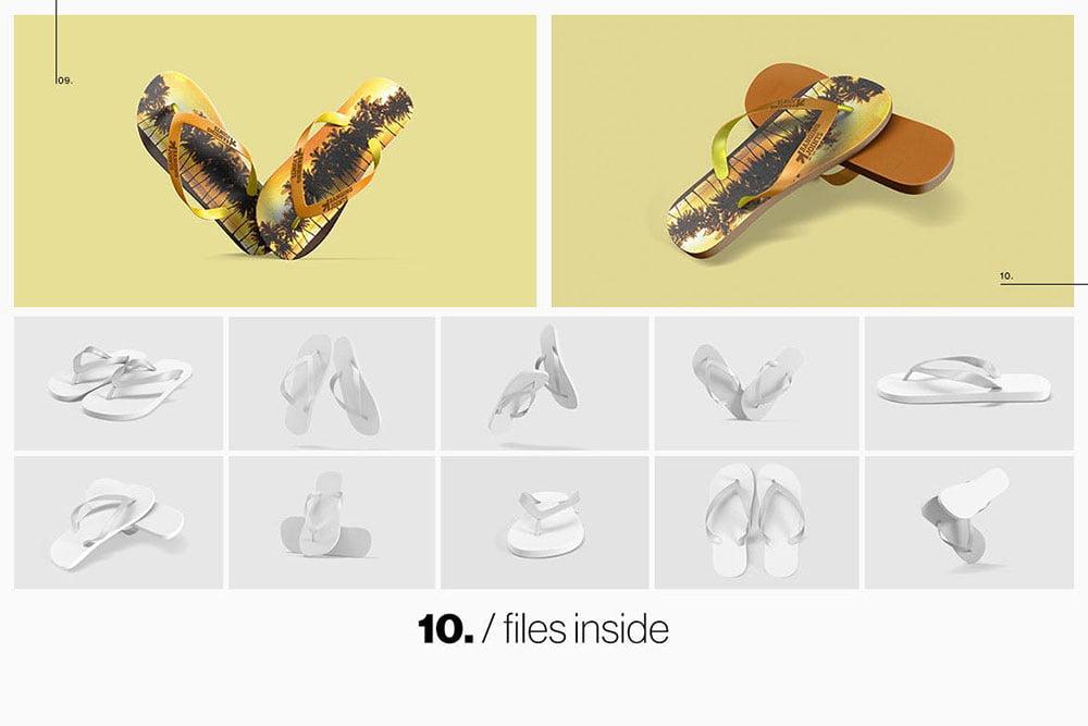 Sandals / Flip Flops Mockup