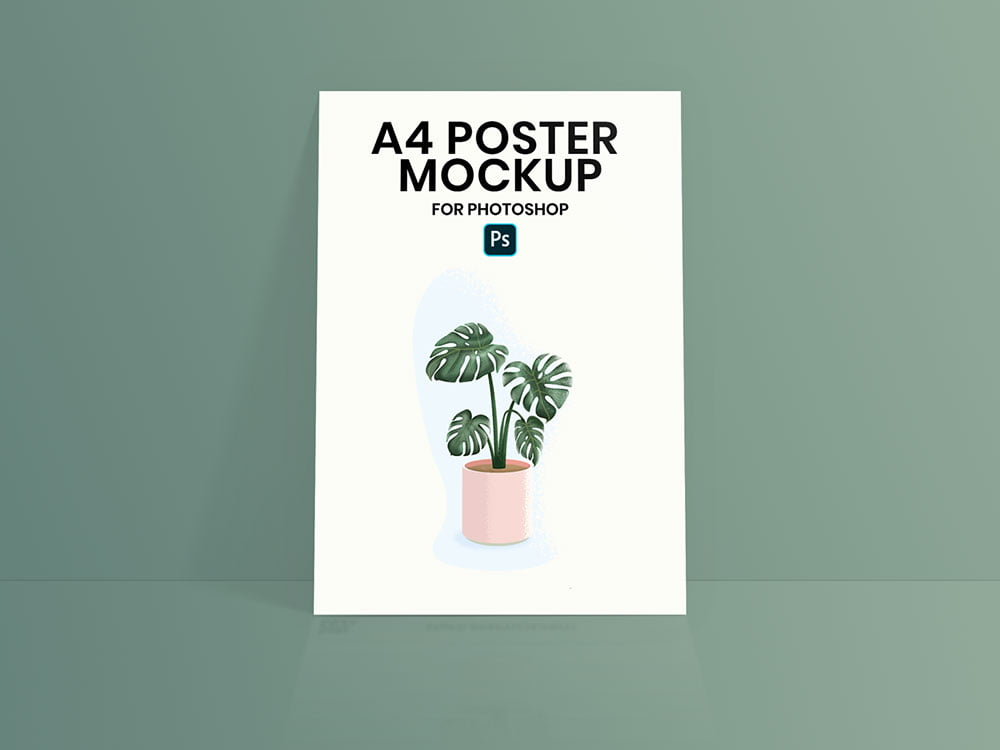 Best A4 Poster Mockup PSD Templates