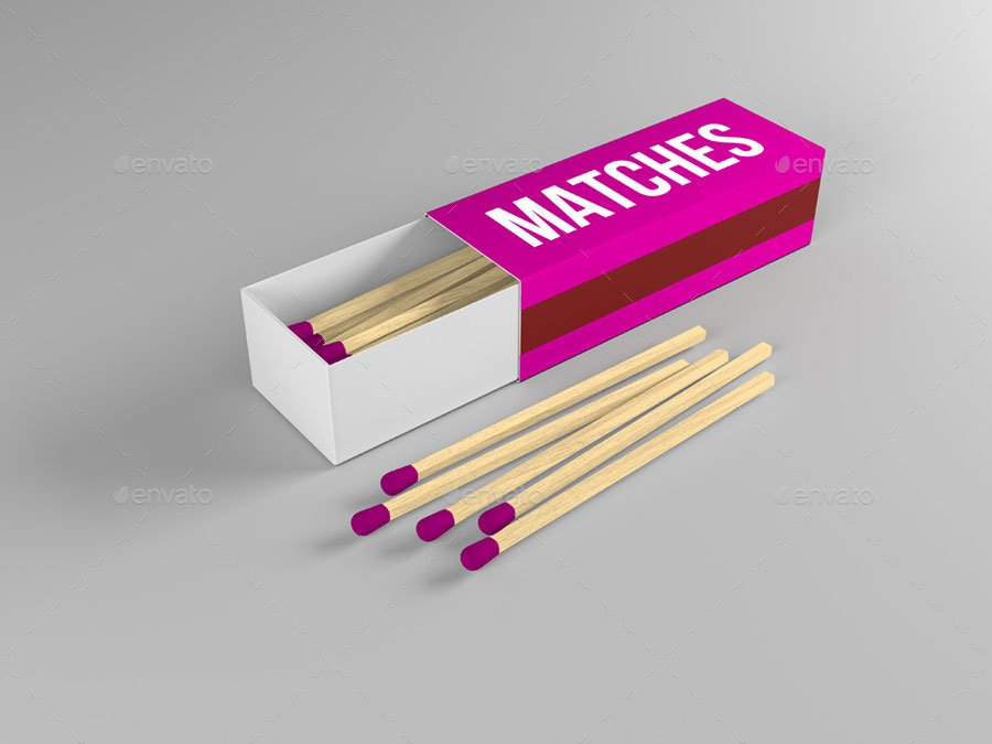 Match Box Mock-up