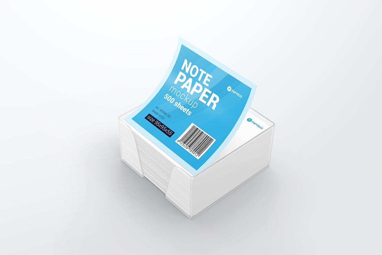 Note Paper Cube Plastic Holder Mockup