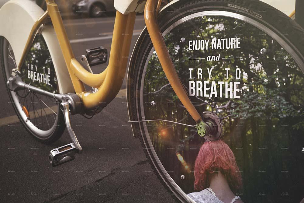 Photorealistic Bike Advertising Mock Up