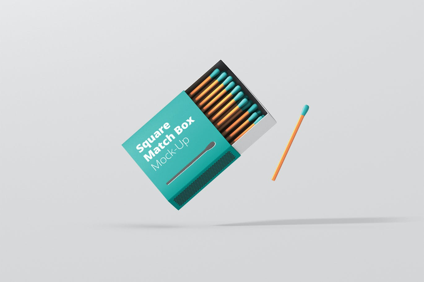 Square Match Box Mockup