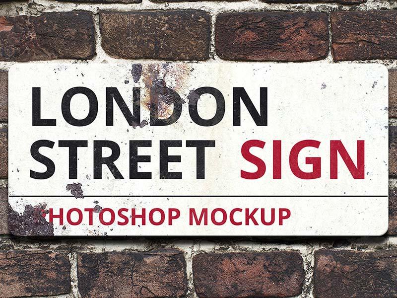 Best Street Sign Mockup