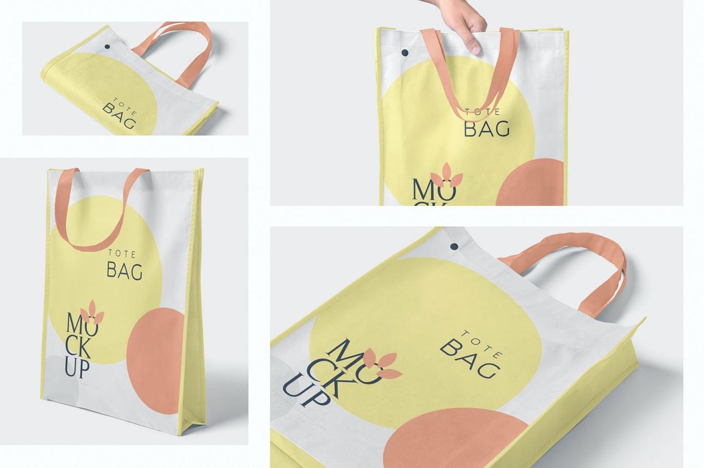 4 Tote Bag Mockups