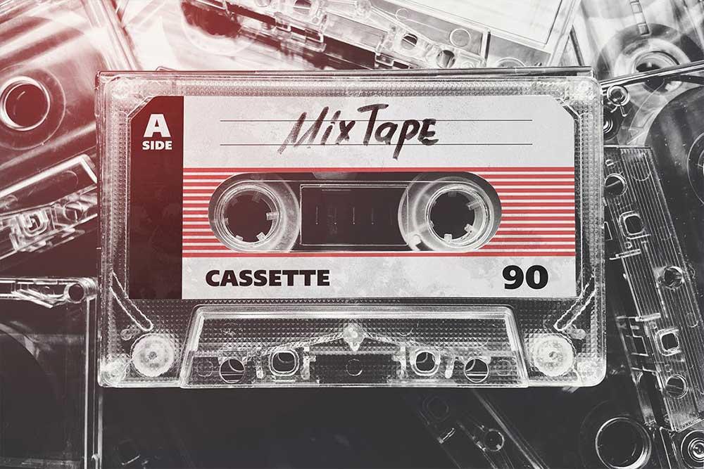 Cassette Tape Case With Cassette Mockup