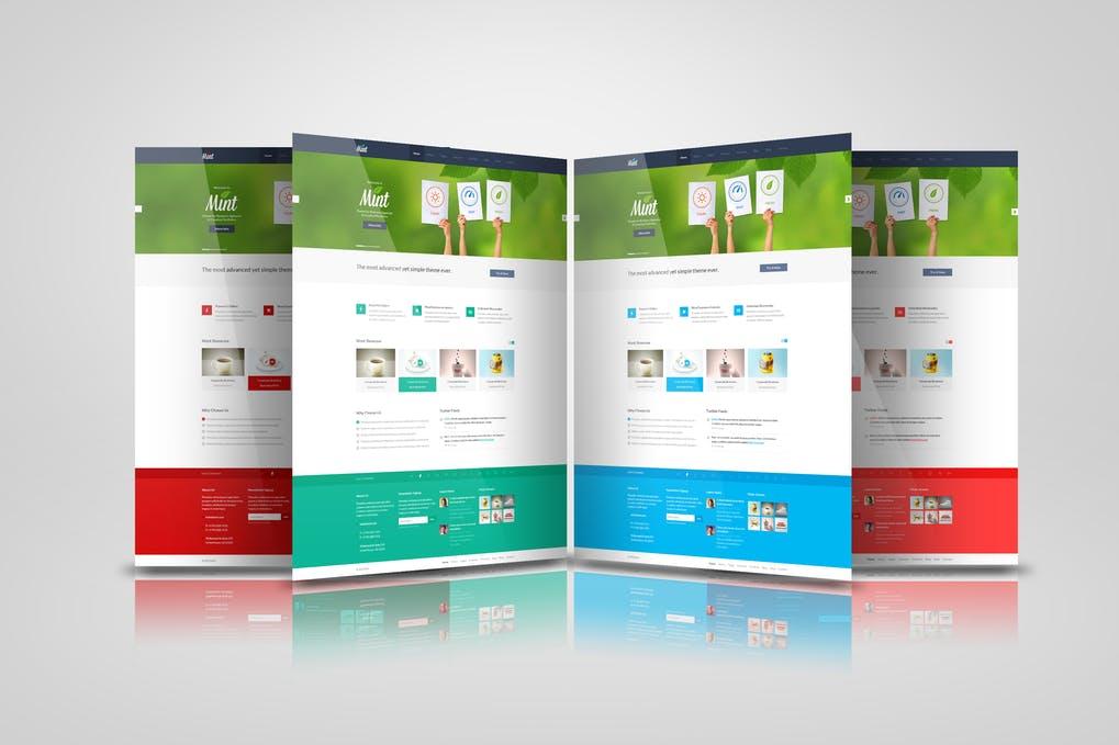 Web Pages Presentation Mock Up