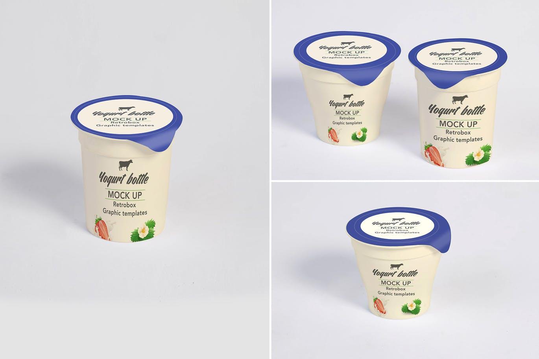 Yogurt Bottles Mockup