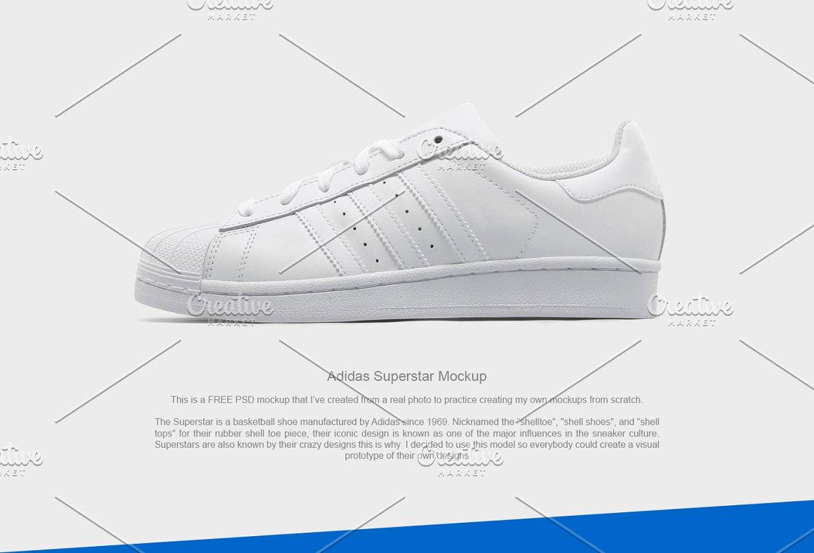 Adidas Superstar Mockup