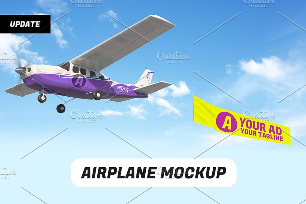 Airplane Mockup