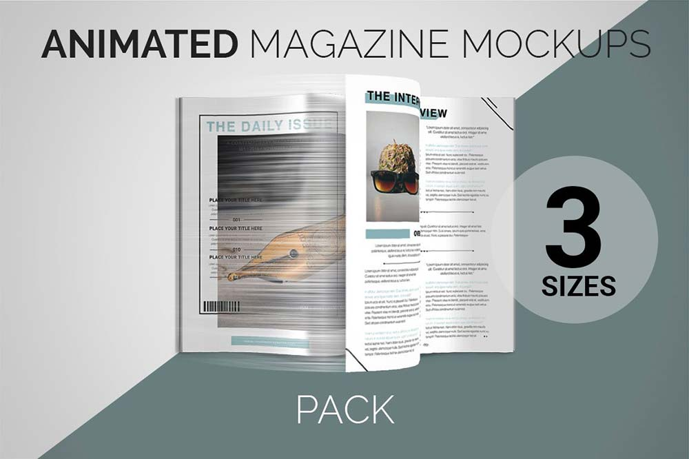 Animated Magazine Mockups