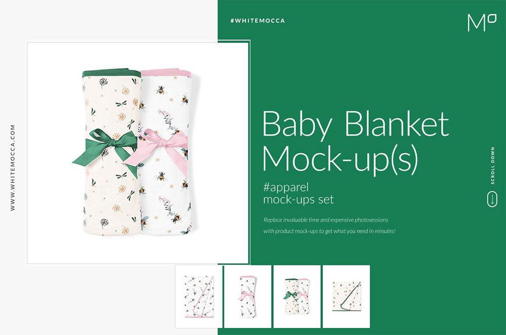 Baby Blanket Mock-ups Set