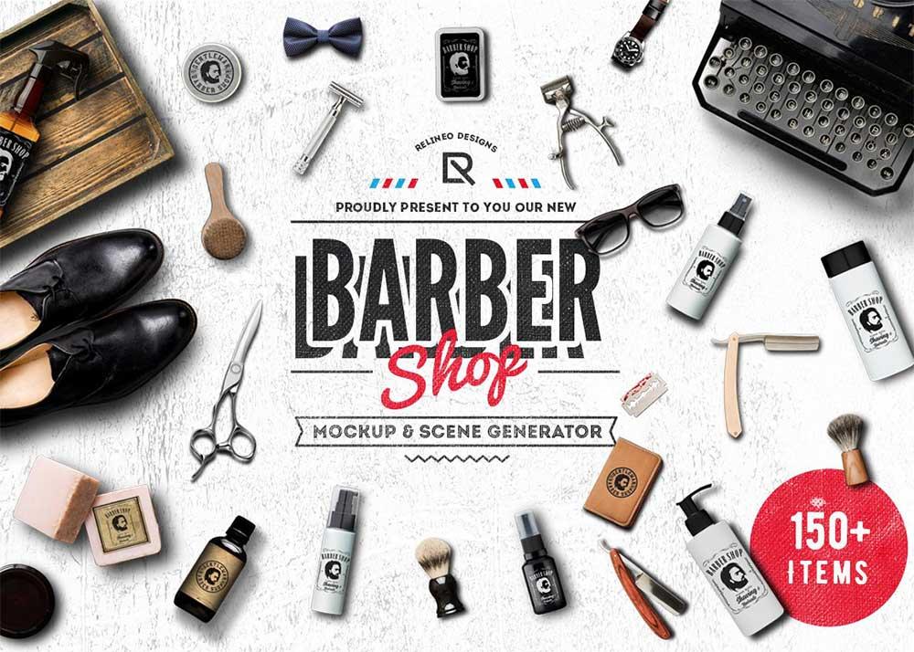 Barber Shop - Mockup Generator