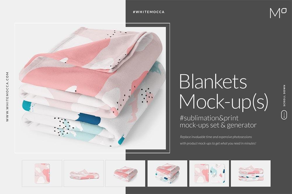 Blankets Mock-ups Set & Generator