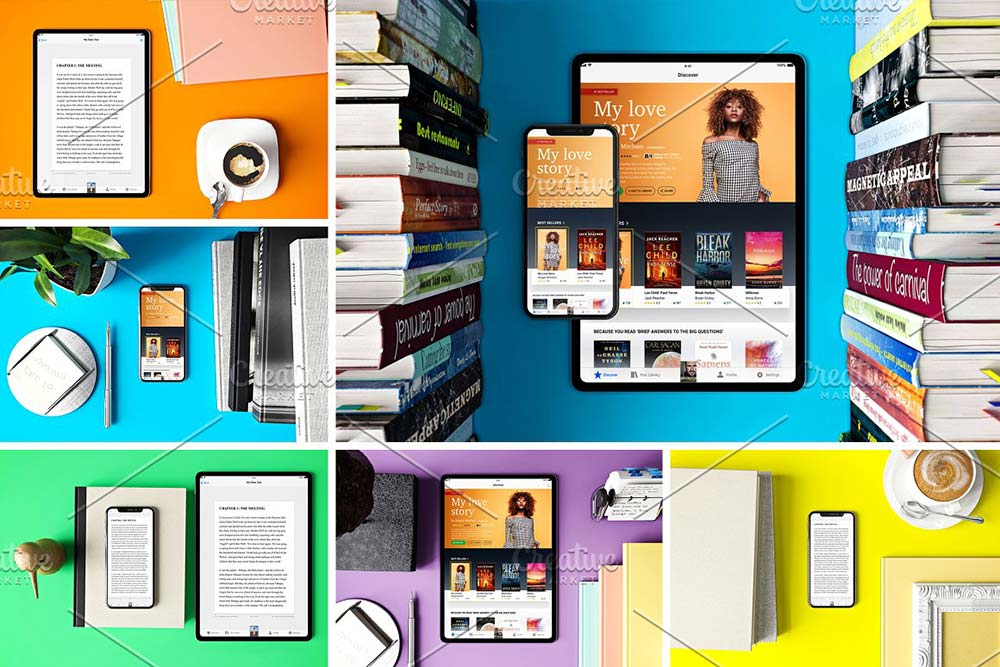 eBook App Mockup