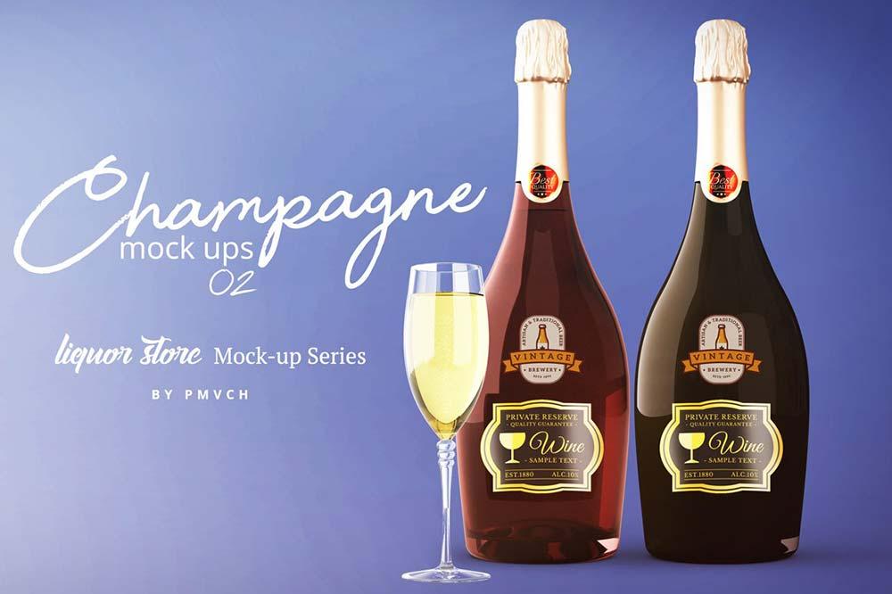 Champagne Mockup