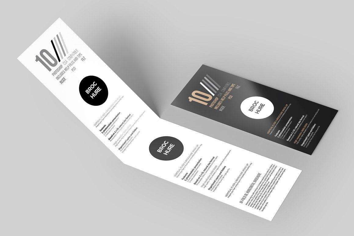 DL Flyer & Brochure Mock-Up
