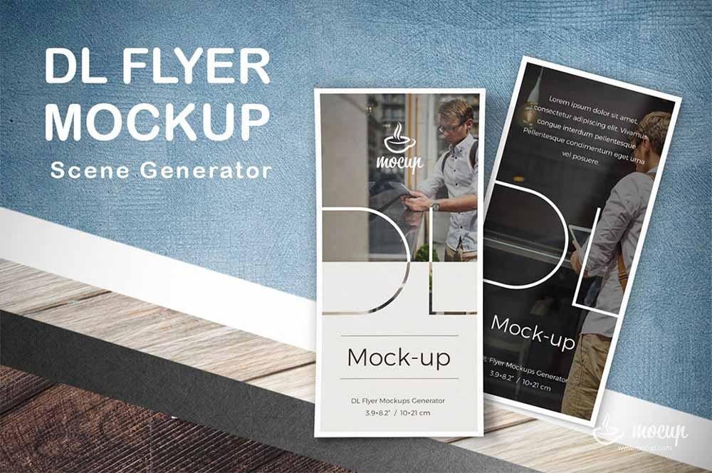 DL Flyers Mockup Generator