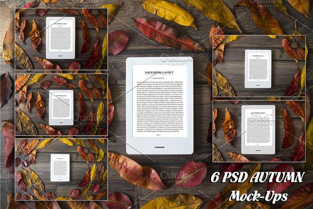 6 E-Book Reader Mock-Ups