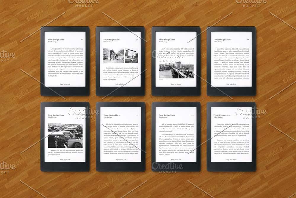 E-Book Reader Mockup Set
