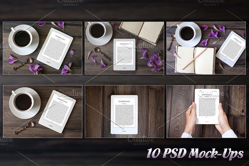 10 E-Book Reader Mock-Ups