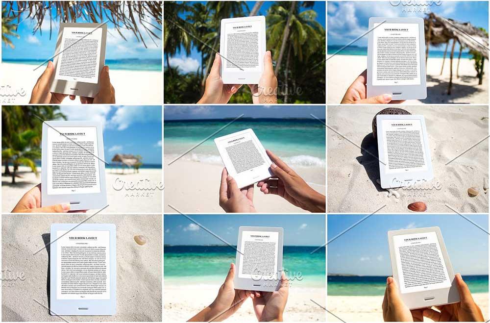 9 E-Book Reader Mock-Ups