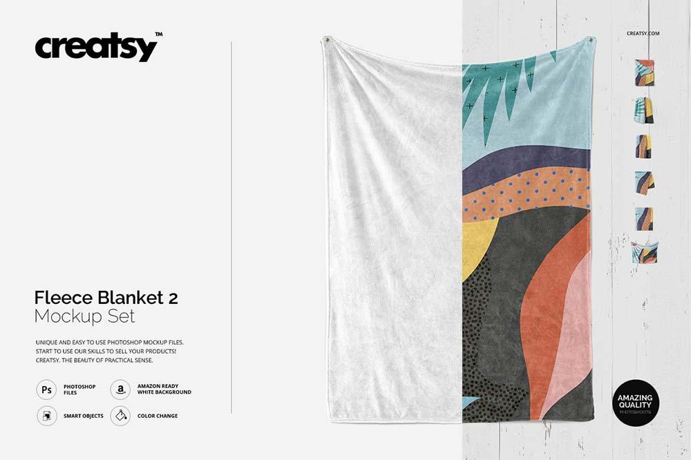 Fluffy Blanket Mockup Set