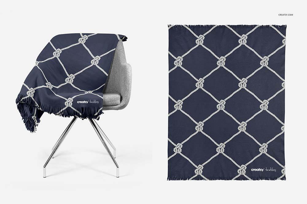 Fringed Blanket Mockup Set