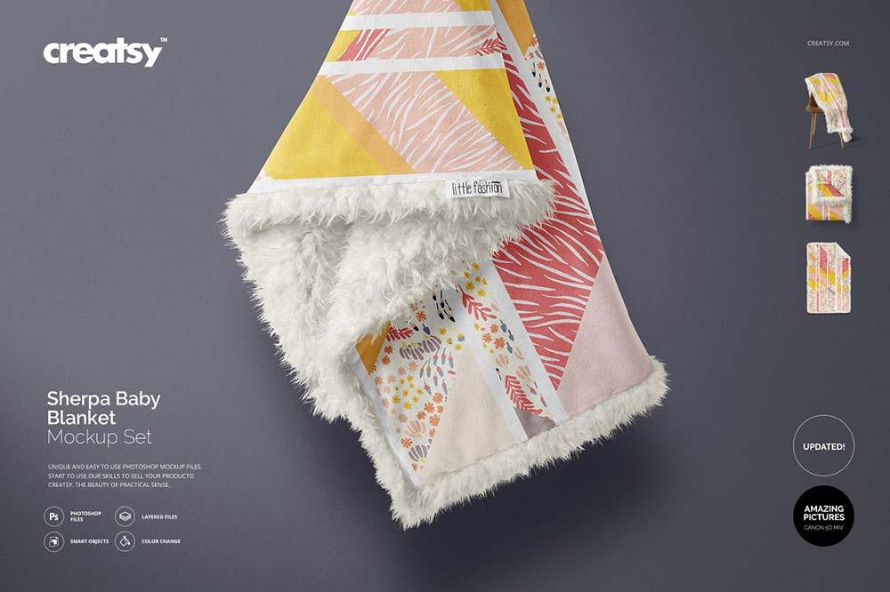 Sherpa Baby Blanket Mockup Set