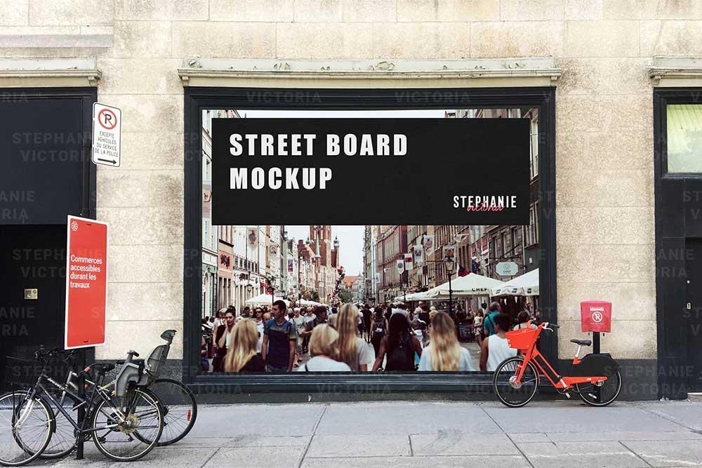 Street Board Mockup