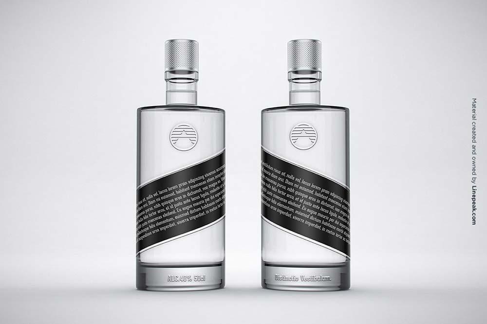 Vodka Gin Bottle Mock-up