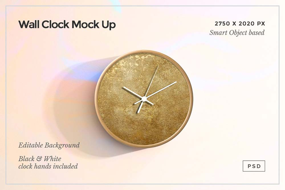 Wall Clock Mock Up PSD