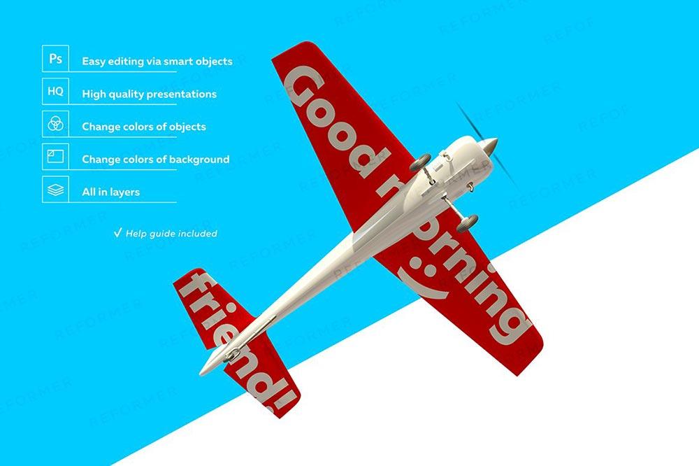 White Aerobatic Aircraft Mockup