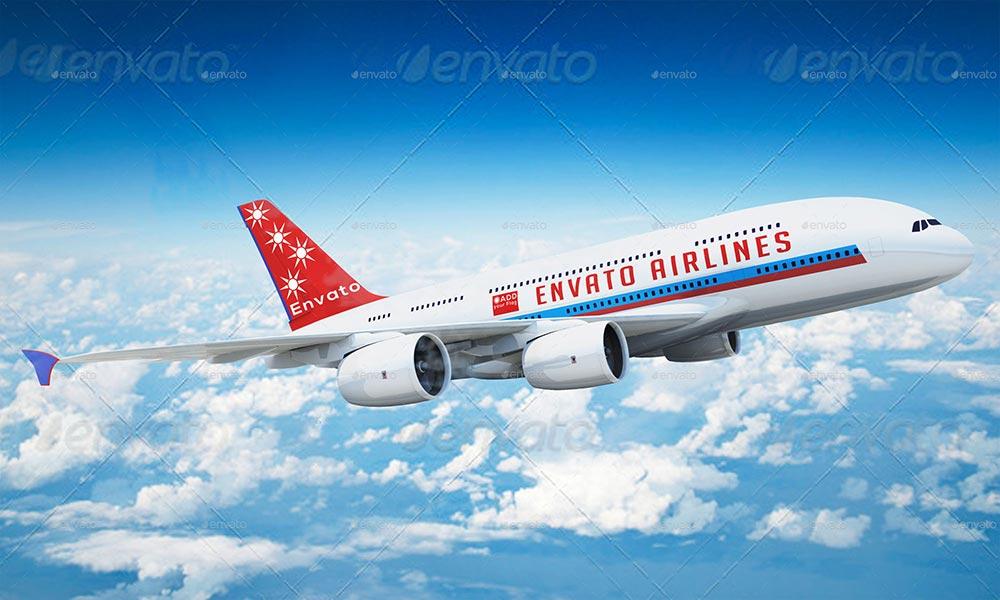 Airplane Advertising Mockup