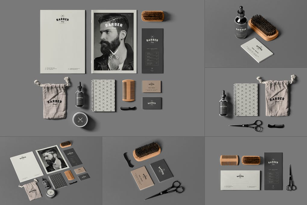 Barber Shop Branding Mock-up