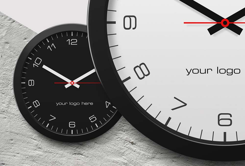 Best Clock Mockup PSD Templates