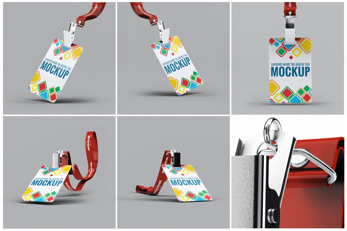 Lanyard Name Badge Tag Mock-up