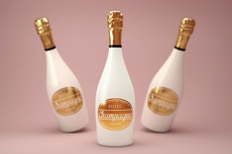 Luxury Champagne Bottle Mock-Up
